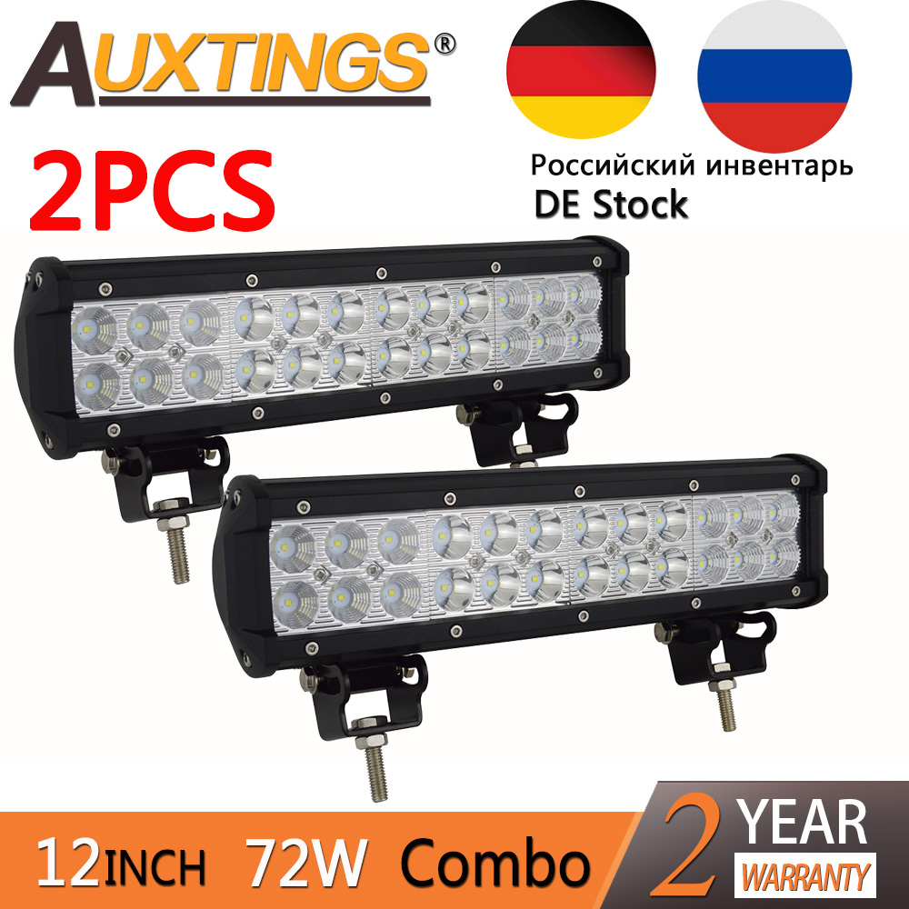High Power 200w 20 Inch Jeep Accessories Led Light Bar For: Auxtings 2 Pack High Power 12inch 12'' 72w Led Work Light