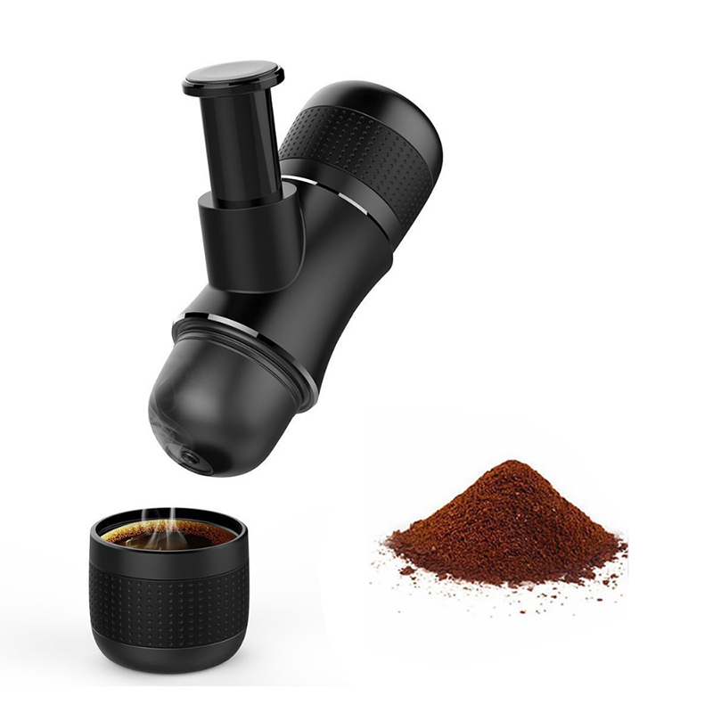 Mini Portable Compact Manual Espresso Maker Hand Operated Coffee Machine Black Coffee Maker Cappuccino For Home mini sport coffee machine the hand powered portable espresso machine with high quality powder vesion