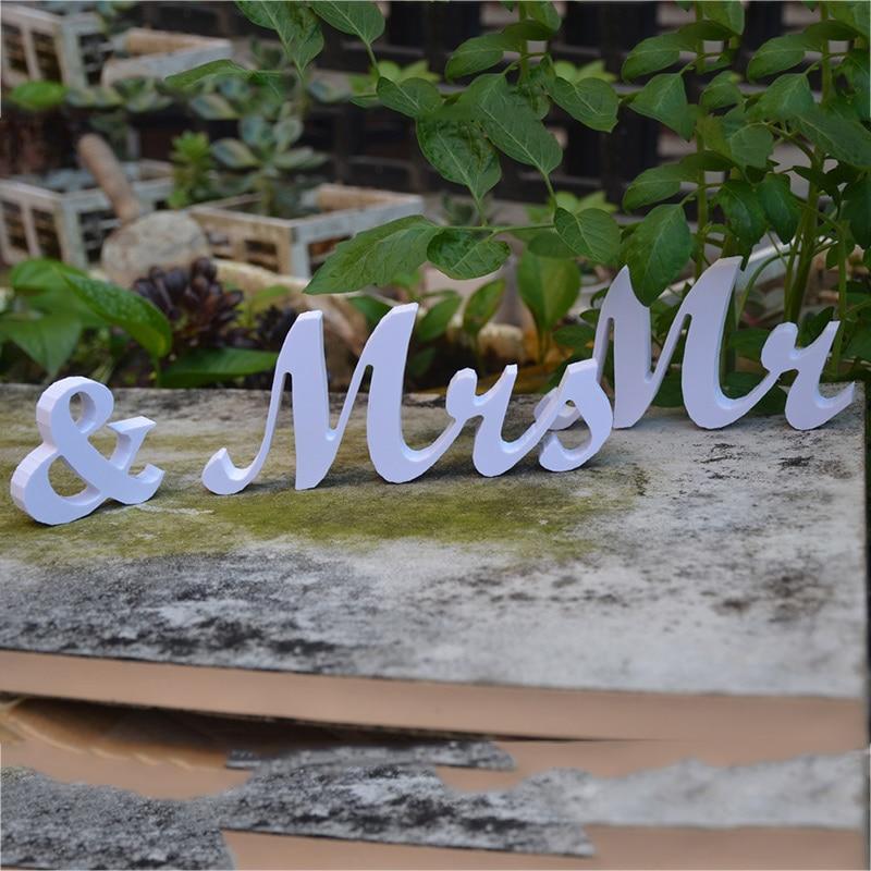 Простой Mr & Mrs буквы банкетные свадебные Декор партии знак реквизит инструмент Поставки
