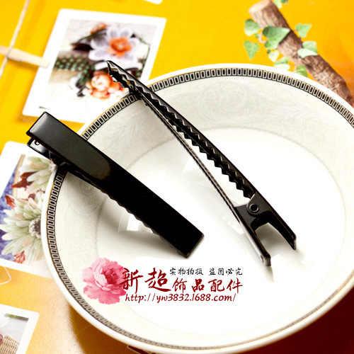 10 X Addensare 4.5 cm/6 cm/8 cm Singolo Polo Del Metallo di Capelli del Coccodrillo Pinze Nero Forcelle Korker arco Accessori FAI DA TE