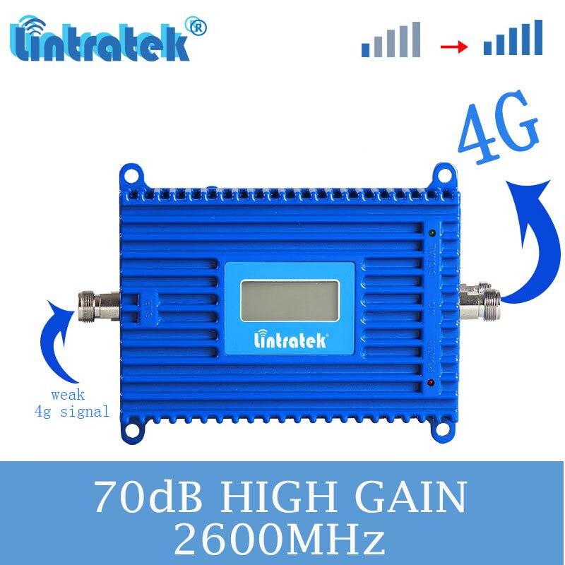 L'amplificateur de signal lintratek LTE 2600 MHZ améliore le booster de réseau de signal de téléphone cellulaire 4g avec la bande 7 s4 de FDD d'affichage à cristaux liquides
