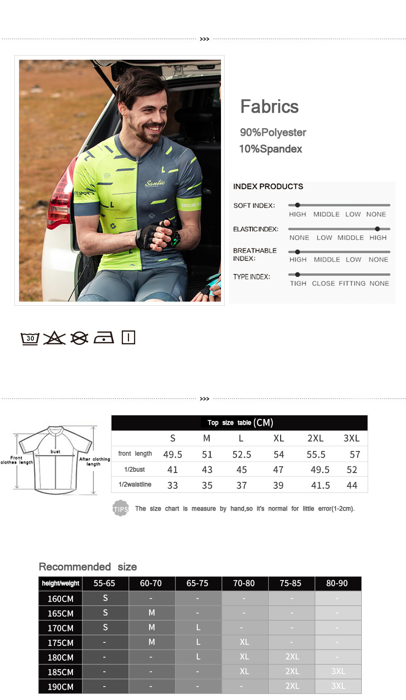 2018 Santic Cycling Jersey Sets Men Clothing Mesh Bib Bike Outdoor Jersey Breathable Short Sleeve Sets Ropa Ciclismo Maillot (7)
