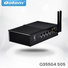 Free Shipping 4 Gigabit LAN ports Mini PC Celeron 3215U Core i3 Core i5 5250 using