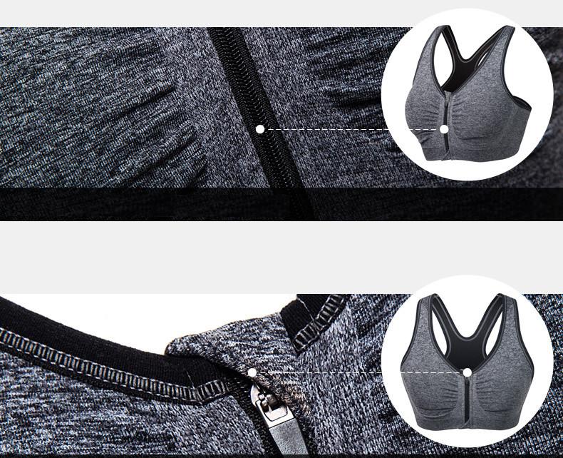 B.BANG 17 New Women Zipper Bra Push Up Crop Top Seamless Sexy Shakeproof Underwear M-XXXL Big Size Wholesale Brassiere 6
