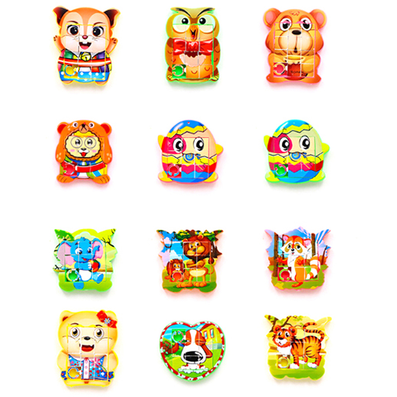 Numbers Cute Animals Educational Jigsaw Puzzle Toys Puzzles Gift Game Style Plastic Children's Educational Toys 5*4.8cm