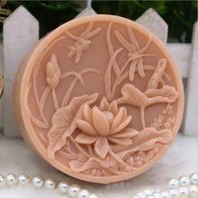Силиконовая форма для мыла в форме цветка стрекозы лотоса для мыла ручной работы