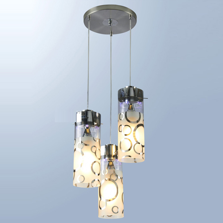 Modern Glass cylinder LED Dining Room Pendant Light Restaurant Bar Counter Bubble Chrome Hallway Blacony Pendant