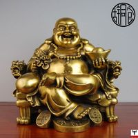 Old antique Bronze Arts & Crafts Bronze copper buddha decoration quality commercial opening gifts lucky