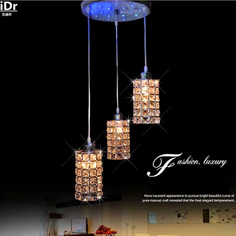 Simple modern crystal LED three meal restaurant bar single head lamp table lamp Pendant Lights Rmy-0248