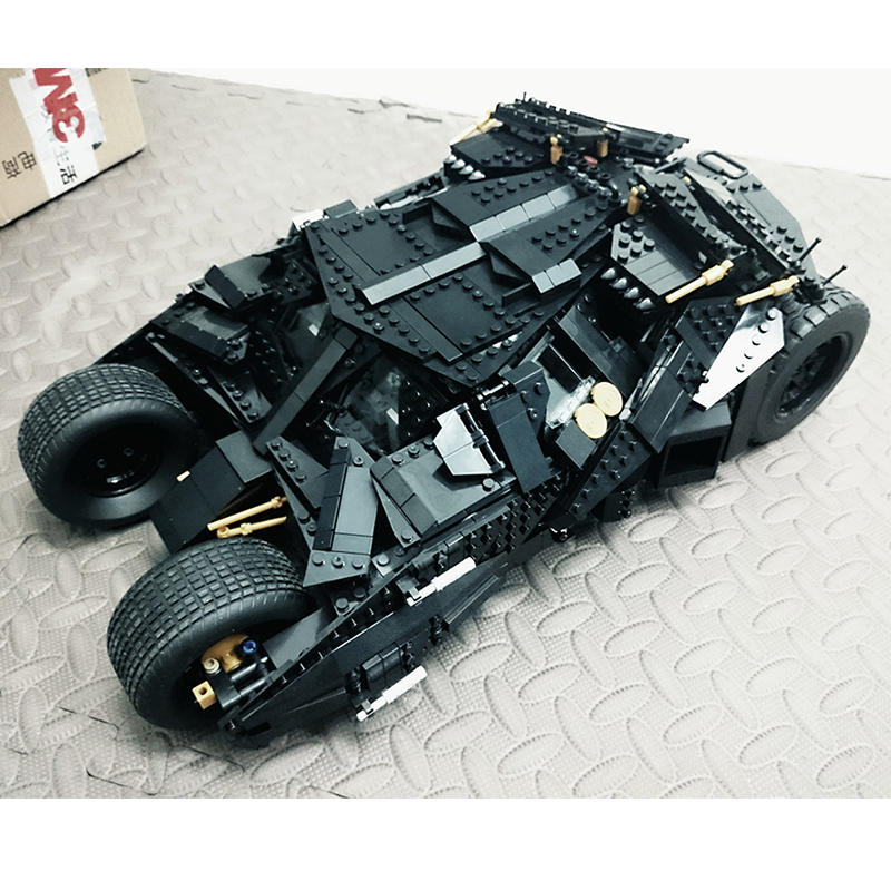 Super Heroes Batman The Tumbler DIY Building Bricks Blocks Gift Figures Toys for Children Compatible Lepins 3D Model 32 32 dots plastic bricks the island straight crossroad curve green meadow road plate building blocks parts bricks toys diy