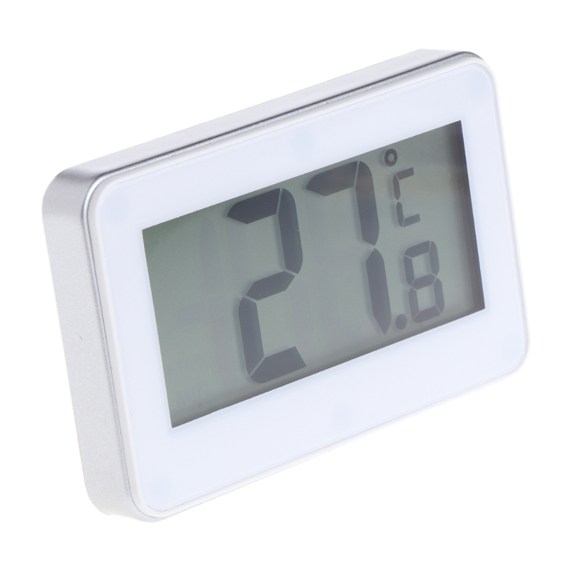 все цены на MEXI Fridge Refrigerator Thermometer Waterproof with Hanging Hook Stand LCD Display Screen Home Appliance Refrigerator (White)