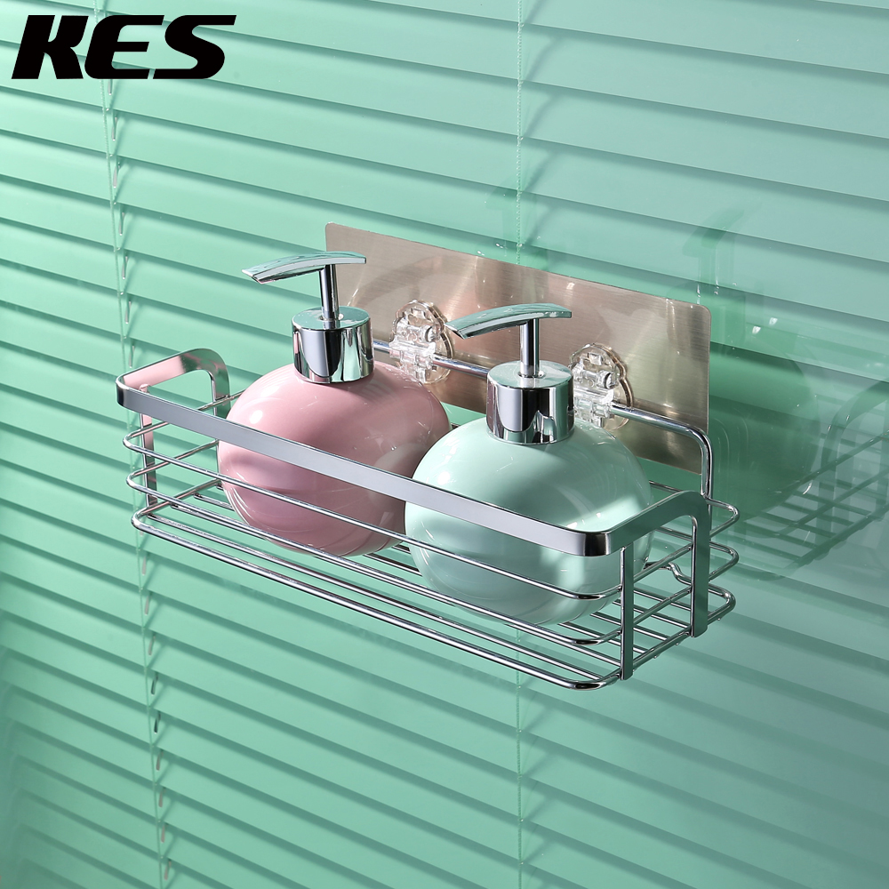 KES Non trace Sticker Removable Wall Adhesive Shower Caddy Bath ...