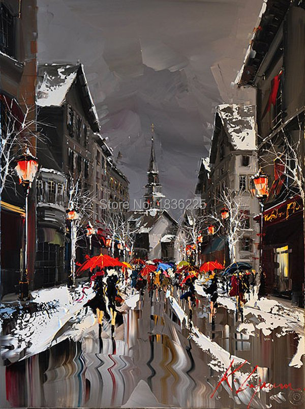 City Oil Painting Painted Painting Oil Painting On Canvas Oil Painting streetscape wall art for Home Decor Wall DecorCity Oil Painting Painted Painting Oil Painting On Canvas Oil Painting streetscape wall art for Home Decor Wall Decor