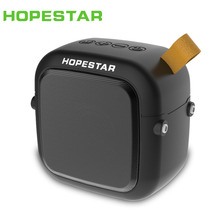 HOPESTAR T5 Mini portable wireless bluetooth speaker outdoor Stereo music Subwoofer Bass waterproof Column Sound Box FM Radio TF недорого