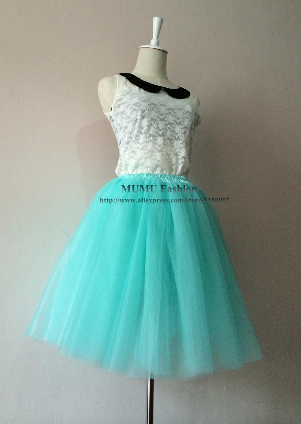 Light Green Puffy Adult Tulle Tutu Skirt 20\