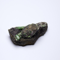 168.7g New Arrivals Mineral samples NATURAL Emerald symbiosis with quartz crystal stone ore collection ZML8