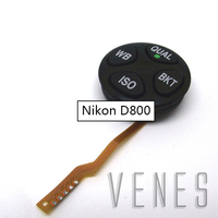 Listagem do novo top tampa do modo de discagem iso wb bkt unidade terno para nikon d800 d800e digital camera repair parte substituição