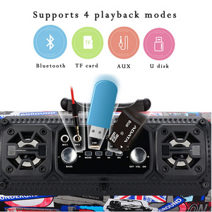 Image 4 - 2018wireless backpack small round speakers bazooka Multimedia speaker  music player Boom box sound system with Fm radio