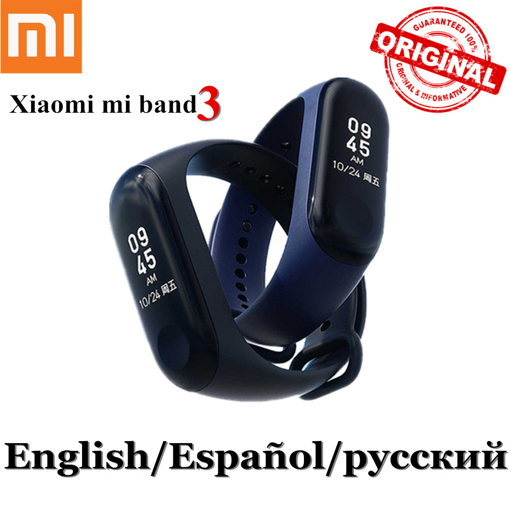 Original Xiaomi Mi Band 3 Smart Tracker Band Bluetooth Mi band Heart Rate Monitor Miband 3 Fitness Bracelet OLED Touchpad miband in stock original xiaomi mi band 3 miband 3 smartband oled display touchpad heart rate monitor wristbands bracelet xiaomi mi 8