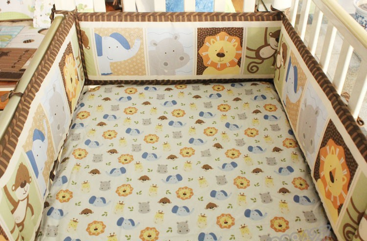 Mother & Kids Reasonable 7 Pieces Lovely Baby Cot Bedding Set 3d Africa Lion Crib Bedding Cot Sheets Cuna Baby Crib Bumper Sets Unisex Quality First Bedding Sets