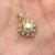 Caimao antigüedades hermosas alrededor de la perla 10 k oro amarillo pendiente aniversario envío gratis
