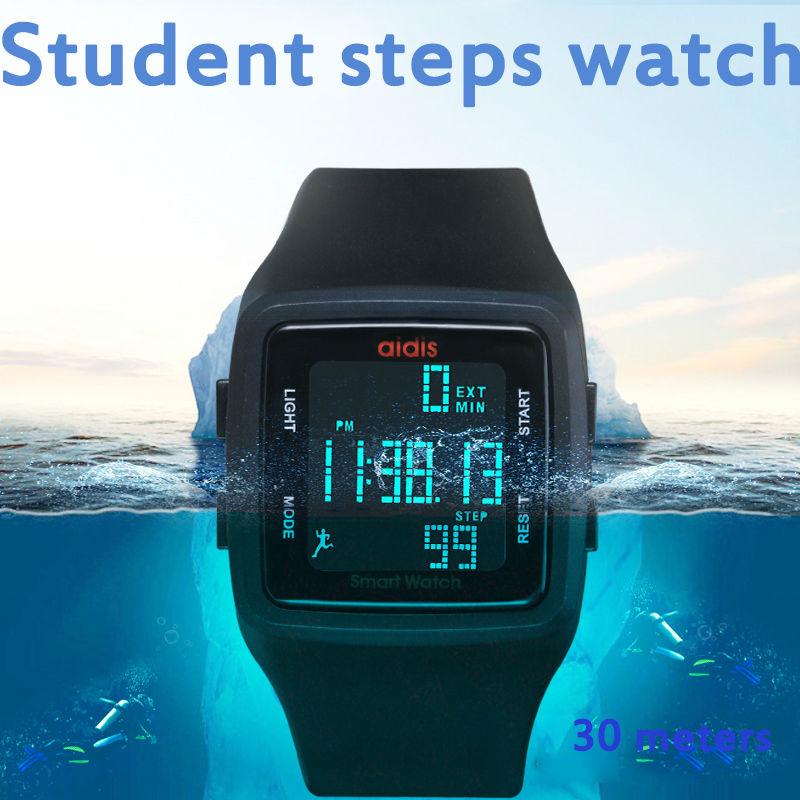 Men Women Running Pedometer Digital Watch Waterproof Function Student Wristwatch Electronic Watches Kid Sports Reloj Montre LED Sports Women