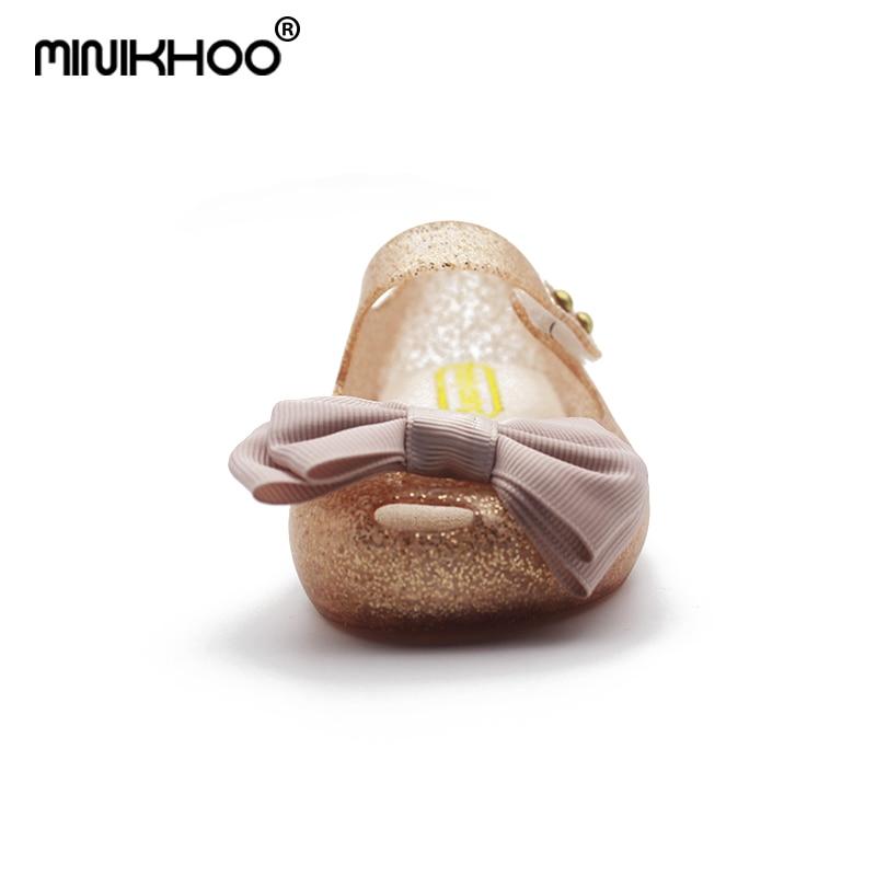 2017 mini melissa meisjes jelly sandalen doek boog antislip kinderen - Kinderschoenen - Foto 2