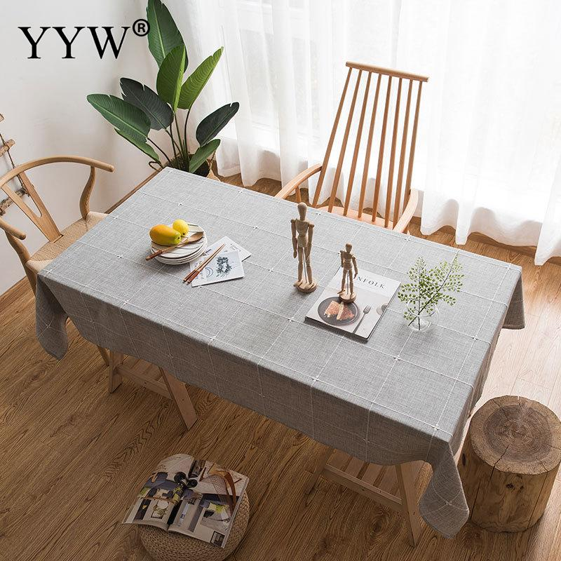 Gray Tablecloth Cotton Table Cloth Nordic Style Multifunctional Rectangle Table Cover Tablecloths Home Kitchen Decor Picnic Mat