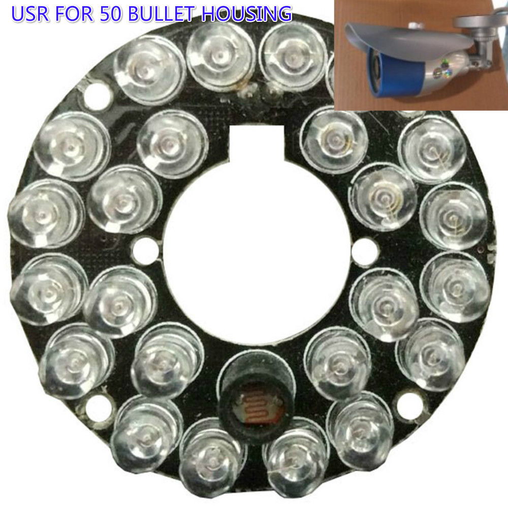 5PCS/LOT Infrared Light Board 850nm 24 LEDS 5mm Infrared IR Led Board For Security CCTV Camera 90 Degree Bulb цена