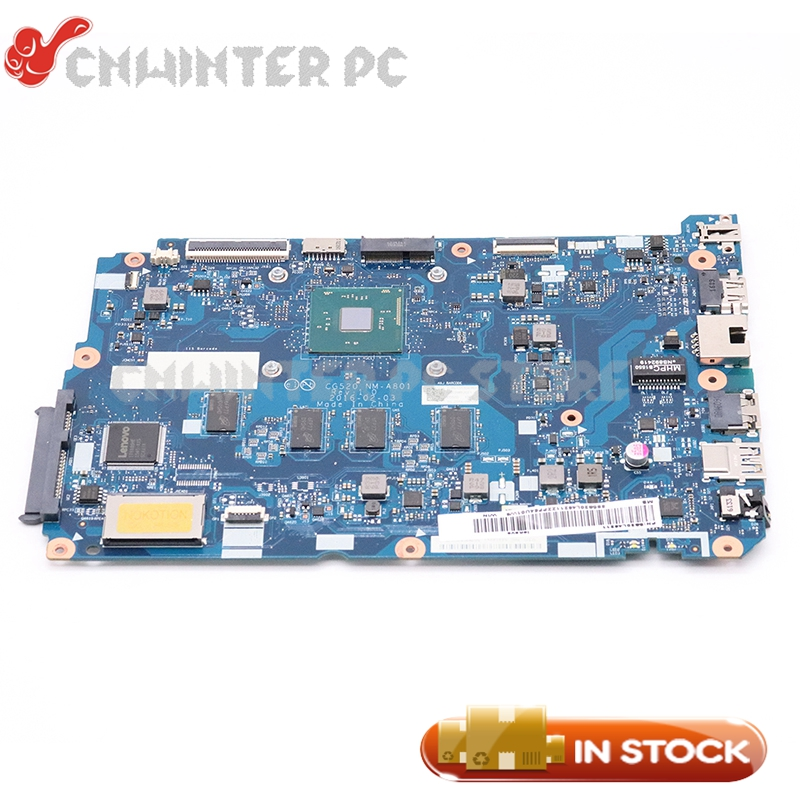 NOKOTION 5B20L46211 Laptop <font><b>Motherboard</b></font> For <font><b>LENOVO</b></font> <font><b>Ideapad</b></font> <font><b>110</b></font>-15IBR CG520 NM-A801 MAIN BOARD SR2KN N3060 CPU 4GB image