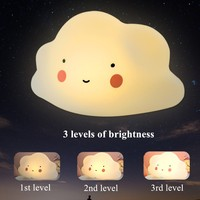 Dimmable Cloud Led Night Light USB Rechargeable for Children Baby Kids Gift Cartoon Lamp Bedside Bedroom Decoration Lighting