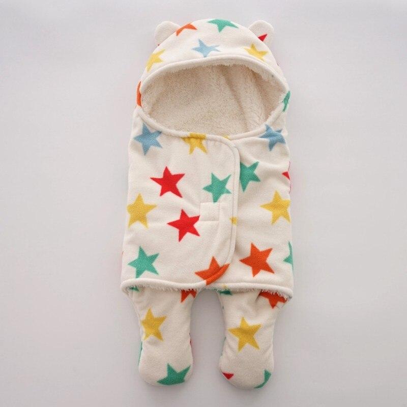 MOTOHOOD Baby Blanket Infant Thicken Flannel Swaddle Stroller Cartoon Winter Blanket Newborn Baby Bedding Blankets Sleeping Bag  (7)