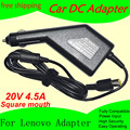 Free shipping High quality DC Power Car Adapter Charger 20V 4.5A For Lenovo Laptop 90W Input DC11-15V max 10A