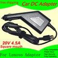O envio gratuito de alta qualidade de energia dc adaptador para carro carregador 20 v 4.5a para lenovo laptop 90 w entrada dc11-15v max 10a