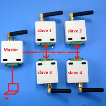 1 마스터 4 슬레이브 433 m 무선 rs485 버스 rf 직렬 포트 uart 트랜시버 모듈 dtu ptz 카메라 용 plc modbus rtu led 컨트롤러