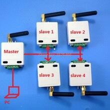 1 mestre 4 escravo 433 m sem fio rs485 ônibus rf porta serial módulo transceptor uart dtu para câmera ptz plc modbus rtu controlador led