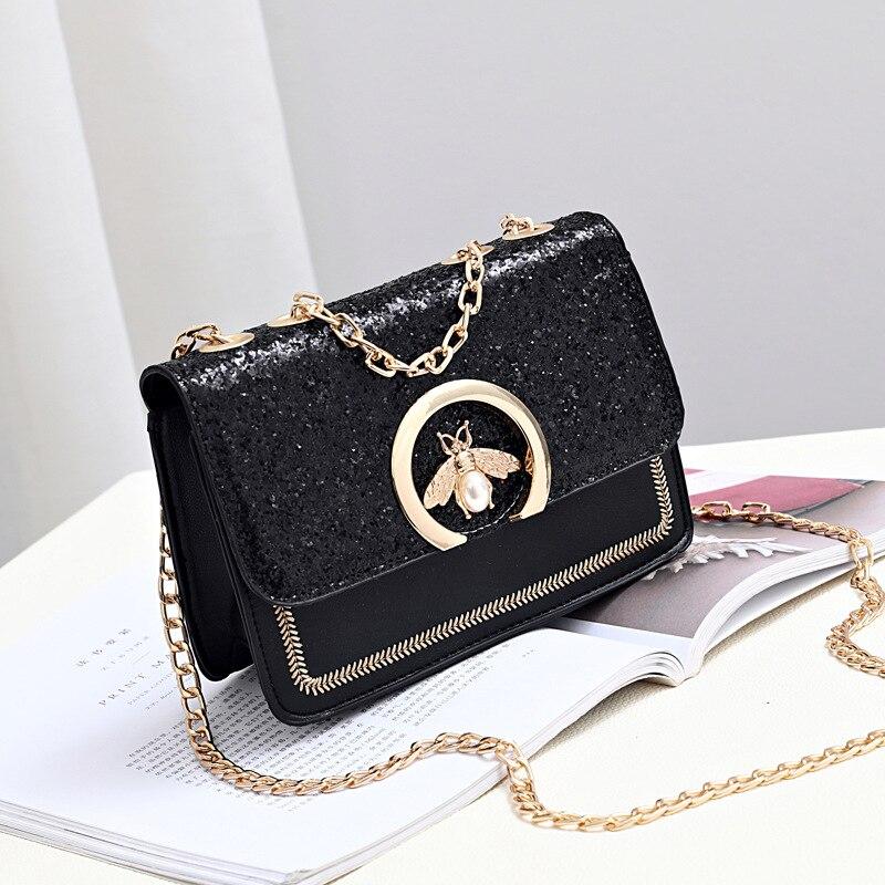 Women Luxury Handbags 2019 Summer White Bags Women's Mini Sequin Square Hand Bags Designer Fashion Shoulder Messenger Bag Clutch
