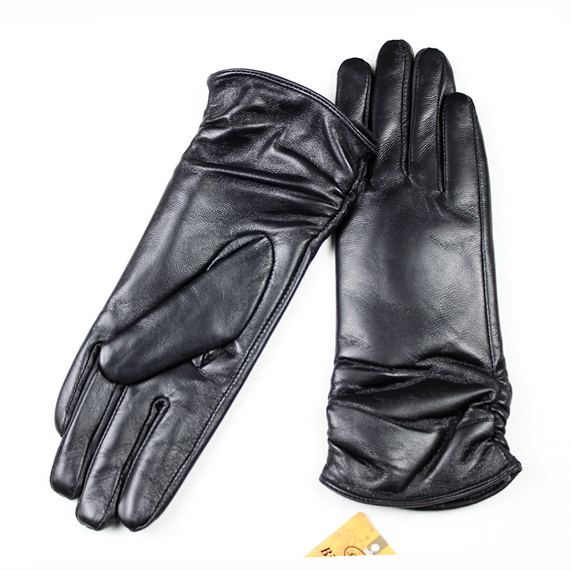 28 Cm Long Sheepskin Gloves Women's Elastic Style Multi-color Velvet Lining Autumn And Winter Warm Points Female Leather Gloves