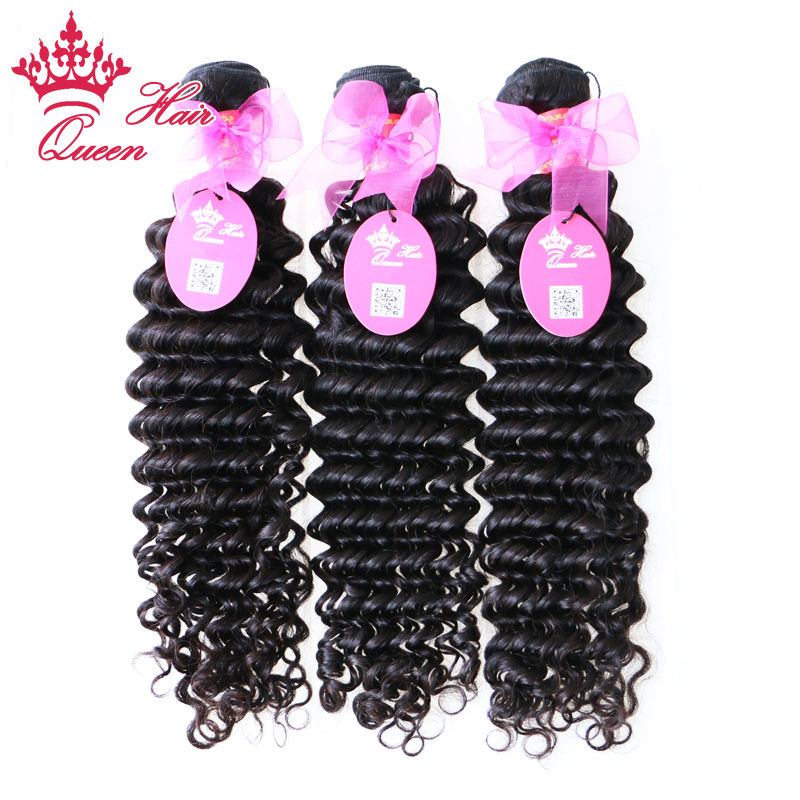 Queen Hair Products Brazilian Deep Wave Virgin Hair 100% Unprocessed Brazilian Deep Curly Virgin Hair Fast Shipping 3pcs/Lot