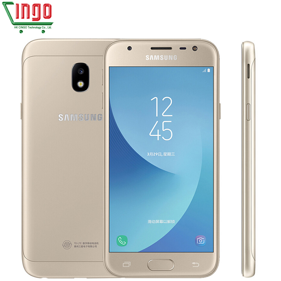 Original Samsung Galaxy J3 2017 J3300 Unlocked 5 0 LTE Dual SIM 13 0MP Snapdragon Quad