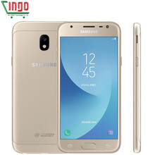 Original Samsung Galaxy J3 2017 J3300 Unlocked 5.0″ LTE Dual SIM 13.0MP Snapdragon Quad Core Smartphone Fingerprint With NFC