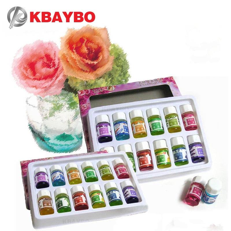 Gloednieuwe in water oplosbare olie Etherische oliën voor aromatherapie Lavendelolie Luchtbevochtigerolie met 12 soorten geurroos