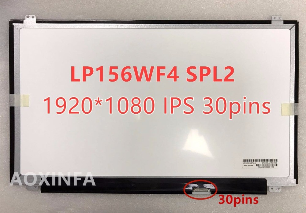 For  LP156WF4 SP L1 L2 LP156WF6 NT156FHM-N42 LED Display Matrix IPS 15.6 Screen LCD Matrix 1920x1080 FHD Antiglare 30 PIN