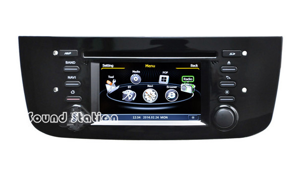 grande punto dvd gps multimedia for fiat grande punto car. Black Bedroom Furniture Sets. Home Design Ideas