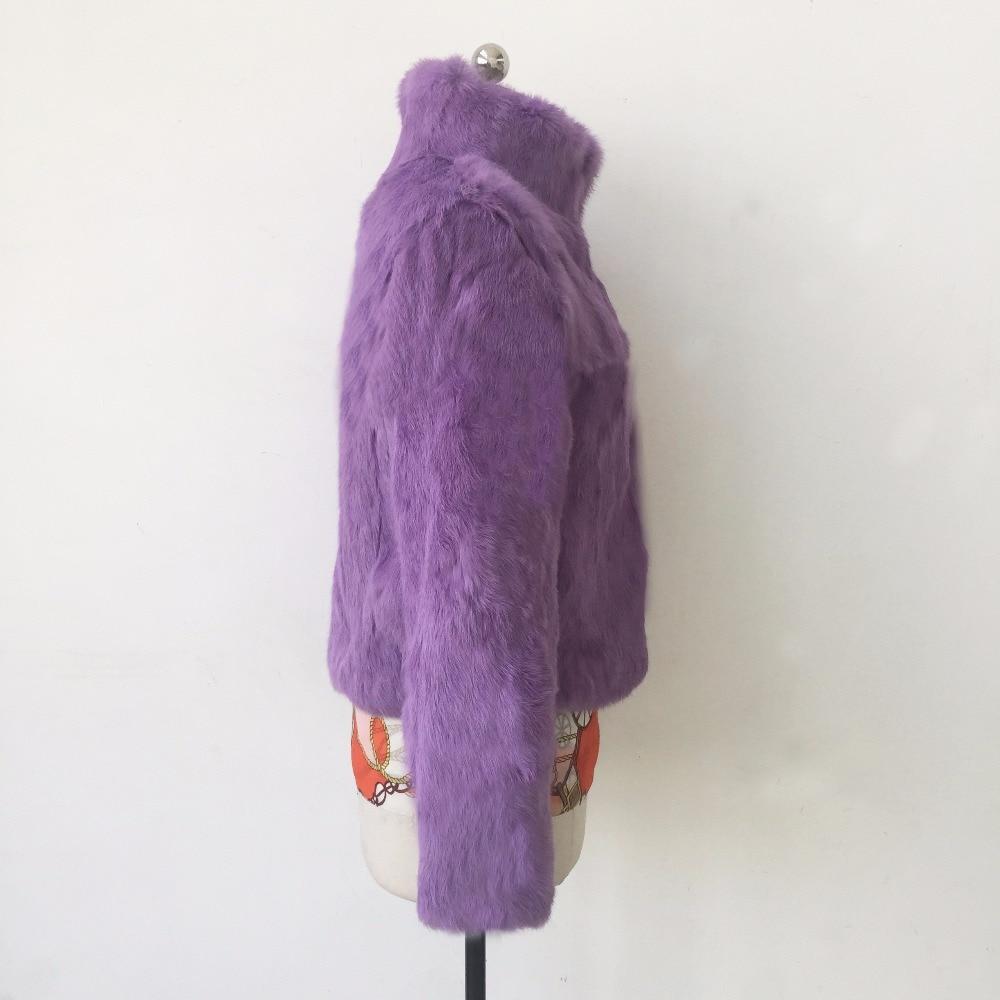 Femelle Manteau Col Classique black Réel Beige purple Lapin Unique Wsr229 Naturel red Fourrure De Vintage Femmes khaki grey Poitrine Veste L'ensemble Mandarin Pur OfdZwEw