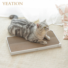 YEATION Cat Toys Scratch Board Pad Scratching Posts Kitten Corrugated Paper