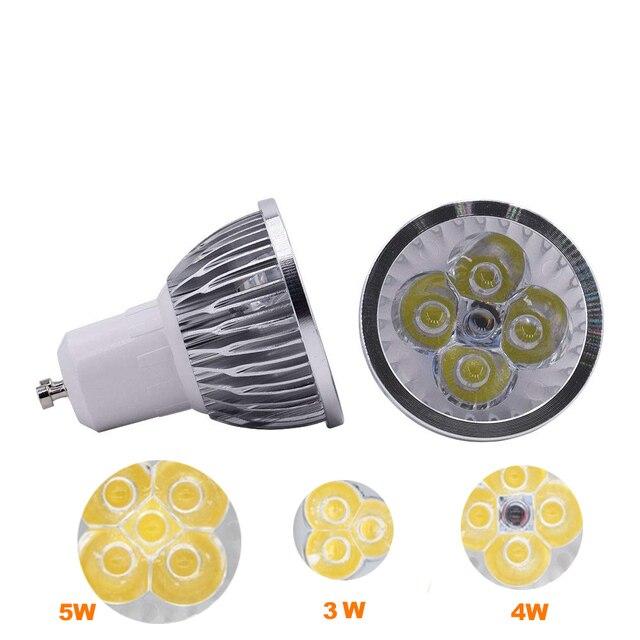 Éclairage GU10 LED Spot Dimmable GU10 lampe à LED 3W 4W 5W 110V 220V rouge vert bleu Lampada ampoule LED lumière Spot bougie Luz