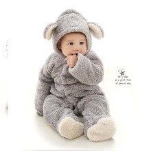 Spring Autumn Baby Clothes Flannel Baby Boy Clothes Cartoon Animal Jumpsuit Baby Girl Rompers Baby Clothing Pajamas