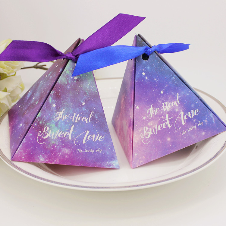 Wholesale 100pcs Bluepurple Starry Sky Night Candy Box