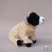 Stuffed Toy Black Face Sheep Doll Plush Animals Kids Toys Gift Real Life Dolls